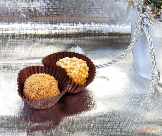 trufas, chocolate, almendra