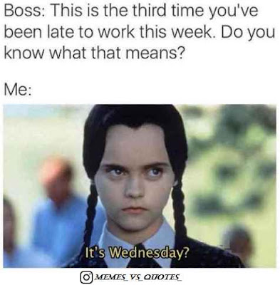 Third time Wednesday