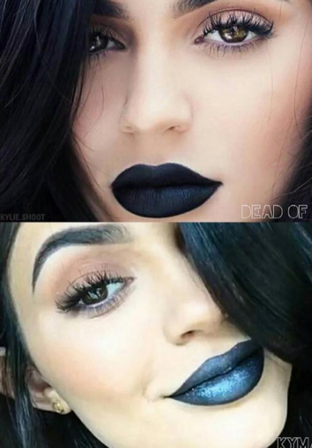 Kylie Jenner labios azules