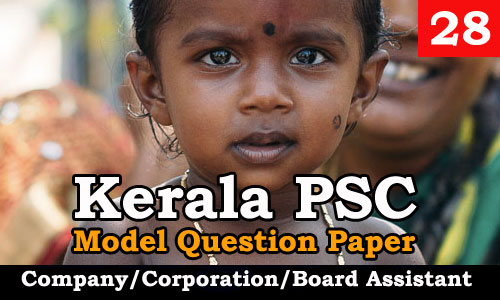 Model Question Paper Company Corporation Board Assistant - 28