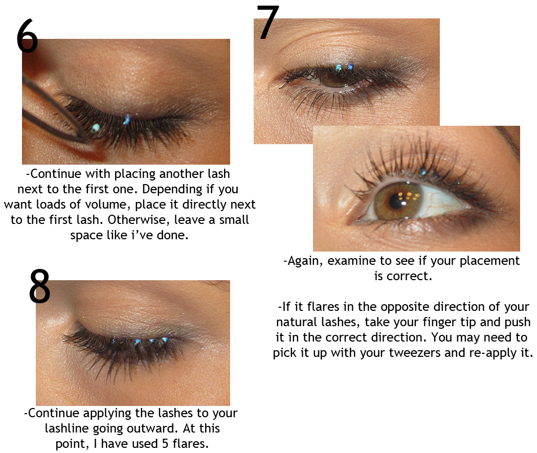 Step by Step: How to Apply Individual Flare Lashes!