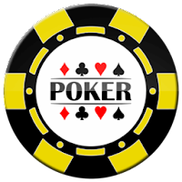 yellow and black poker chip