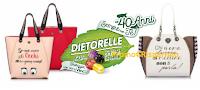 Logo Dietorelle : festeggia i 40 anni e vinci 40 Borse Le Pandorine