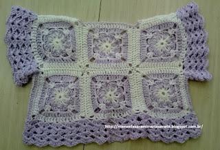 Crochet square vest baby kids