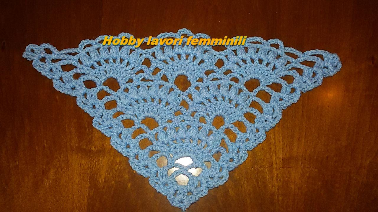 Hobby lavori femminili ricamo uncinetto maglia: scialle