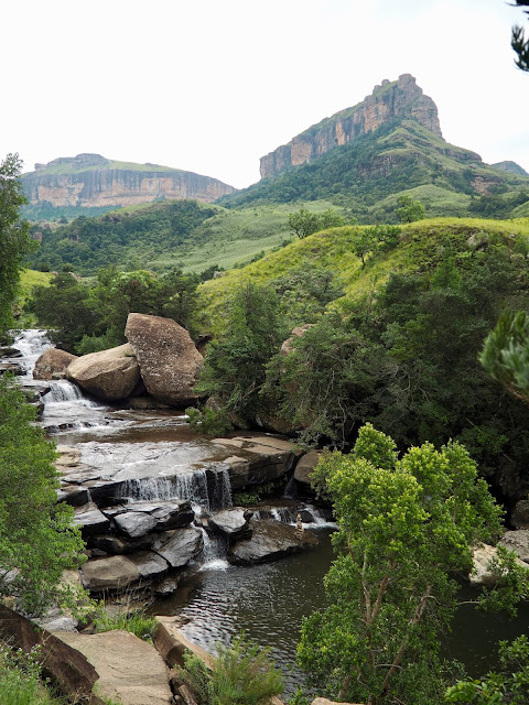 Waterfall hike, Drakensberg National Park, South Africa
