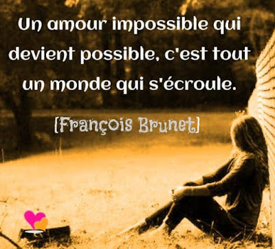 Citation sur un amour impossible.