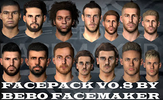 PES 2017 Facepack Vol. 8 by Bebo Facemaker