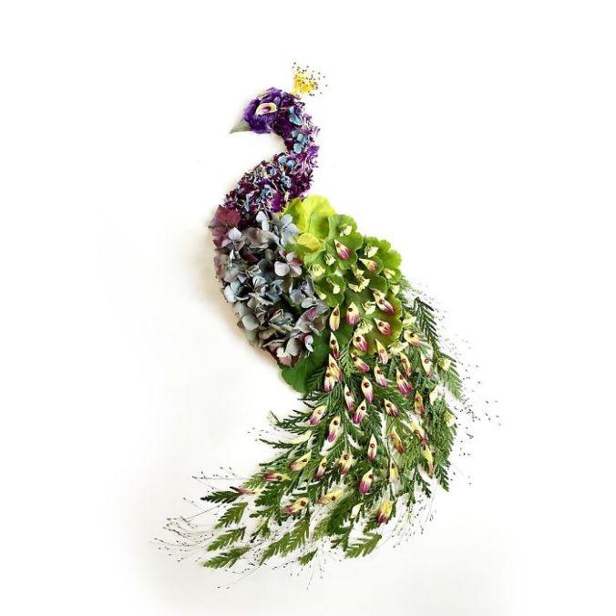 Karya Seni Kolase Indah Dari Berbagai Tumbuhan dan Bunga
