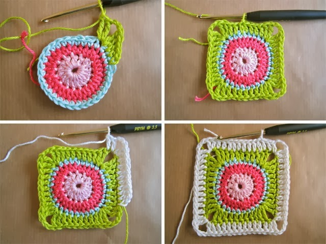 Circel In Vierkant Haken Crochet Circle In Square Bees And