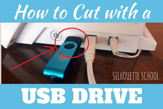 silhouette america blog, silhouette 101, usb drive, cut with usb, CAMEO 2, CAMEO 3