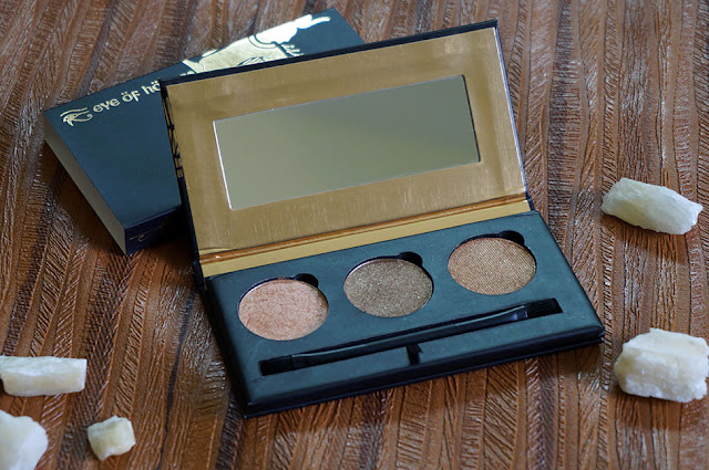 Eye Of Horus Cosmetics, Isis Sun Goddess Shadow Palette, Eye shadow trio, eye shadow palette, baked sye shadows, shimmer eye shadows, makeup review, beauty review, makeup products online, beauty, makeup, beauty blog, makeup blog, top beauty blog of pakistan, red alice rao, redalicerao
