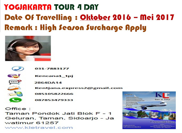 PROMO YOGJAKARTA TOUR 4 DAY
