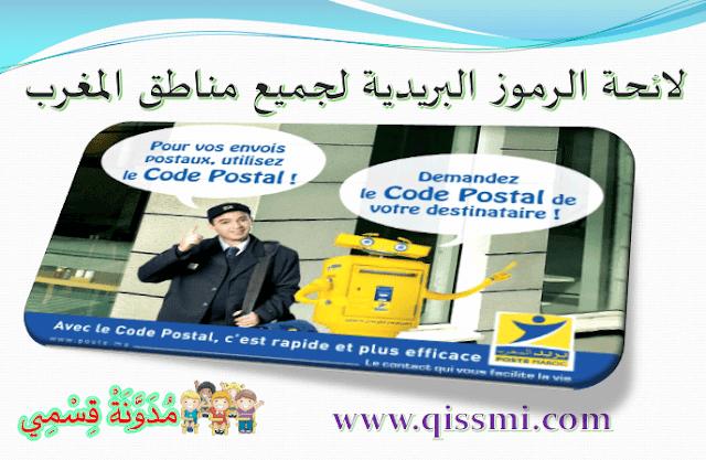 code postal villes Maroc- code zip