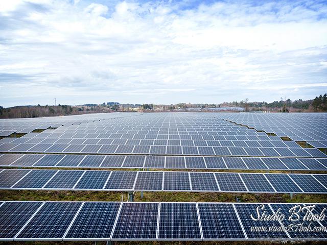 Photos parc photovoltaique panneaux solaires