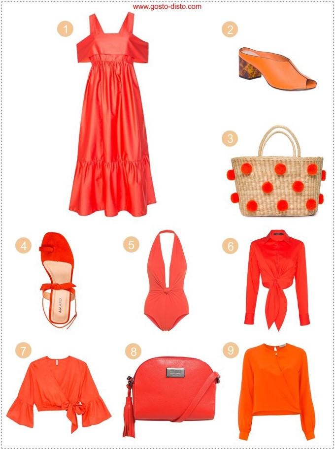Roupas e acessórios laranja