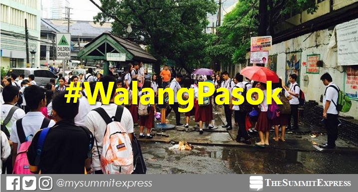 #WalangPasok: Class suspensions on Wednesday, July 18, 2018