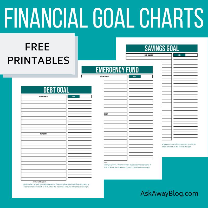 Ask Away Blog: FREE Printable Financial Goal Charts