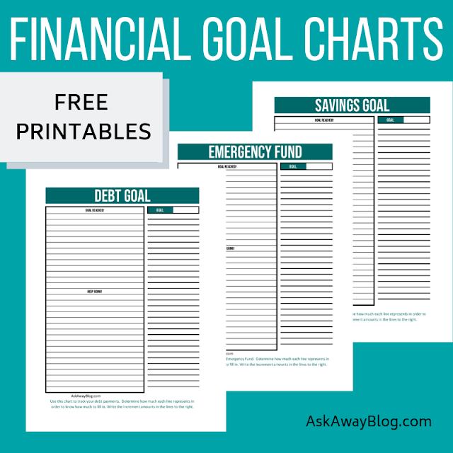 Free printable financial goal charts