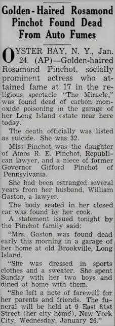 Rosamond Pinchot Suicide