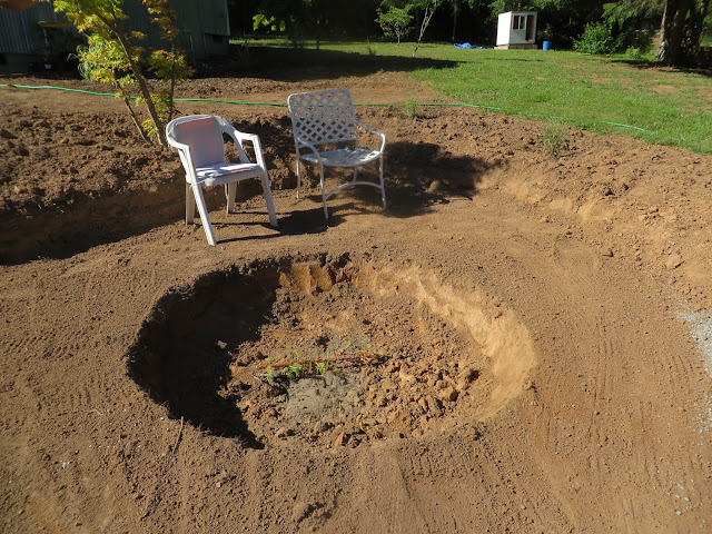 making a new garden the evolution of a fire pit