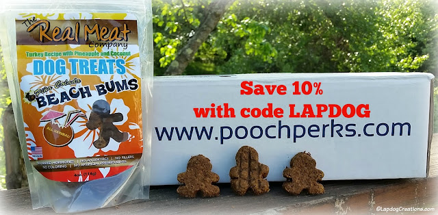 The Lapdogs LOVE their #PoochPerks box! SAVE 10% off with our #couponcode LAPDOG and starting pampering your pooch today! #dogsubscriptionbox #LapdogCreations ©LapdogCreations