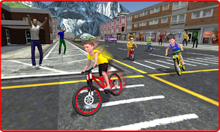 Kids Bicycle Rider Street Race Apk tanpa iklan