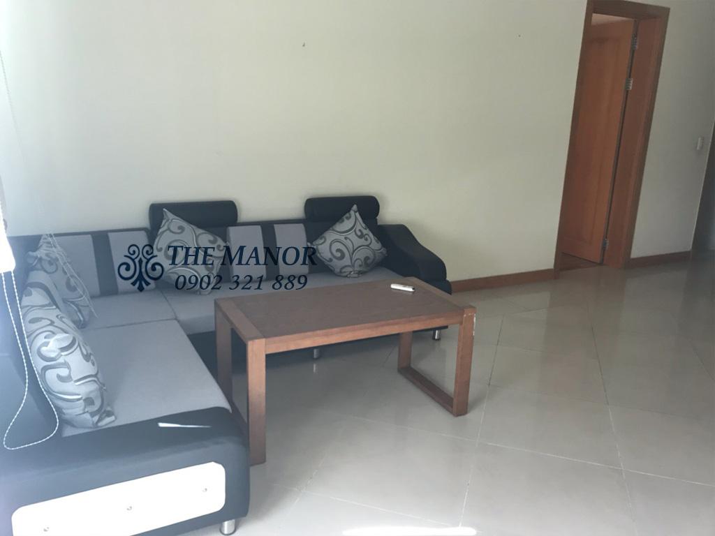 Bán căn hộ The Manor lô A tầng 18 với 2 phòng ngủ - sofa tại phòng khách