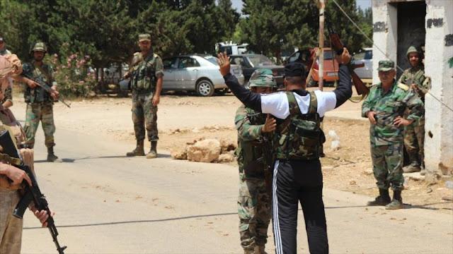 Un elevado número de 'rebeldes' se une al Ejército sirio en el sur