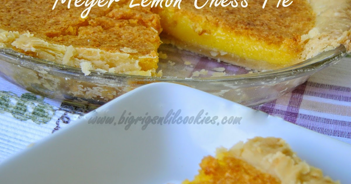 Big Rigs 'n Lil' Cookies: Meyer Lemon Chess Pie
