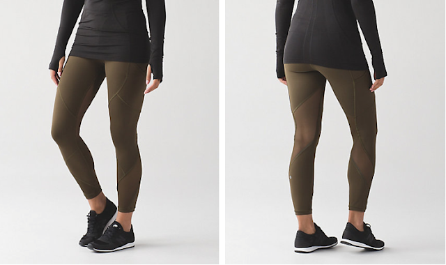 lululemon military-green outrun-tight