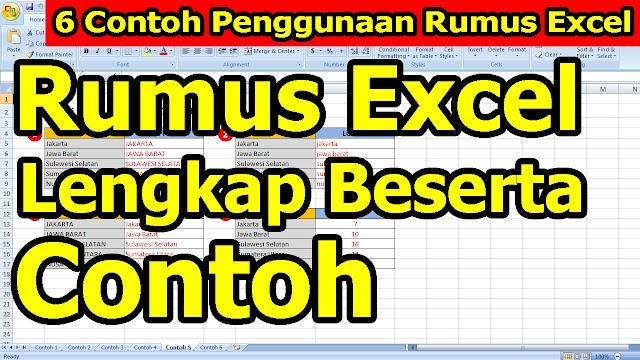 6 Contoh Penggunaan Rumus Excel