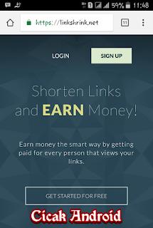 Cara Daftar Dan Mendapatkan Uang Dollar Dari Linkshrink.net
