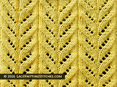Lace knitting pattern chart #18