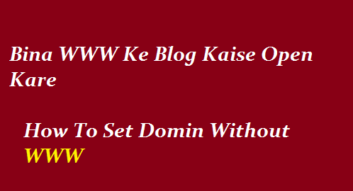 how-to-set-domin-witout-www