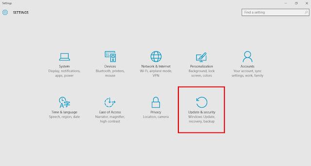 استرجاع ويندوز 7 او 8.1 بعد التحديث الى ويندوز 10