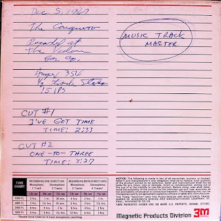 The December 5, 1967, instrumental backing tracks master tape