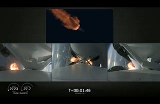 SpaceX Falcon Heavy three engines