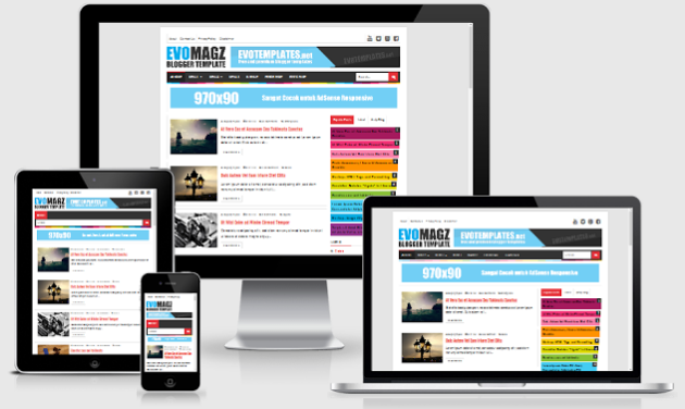Download Responsive Evo Magz Template Blogger
