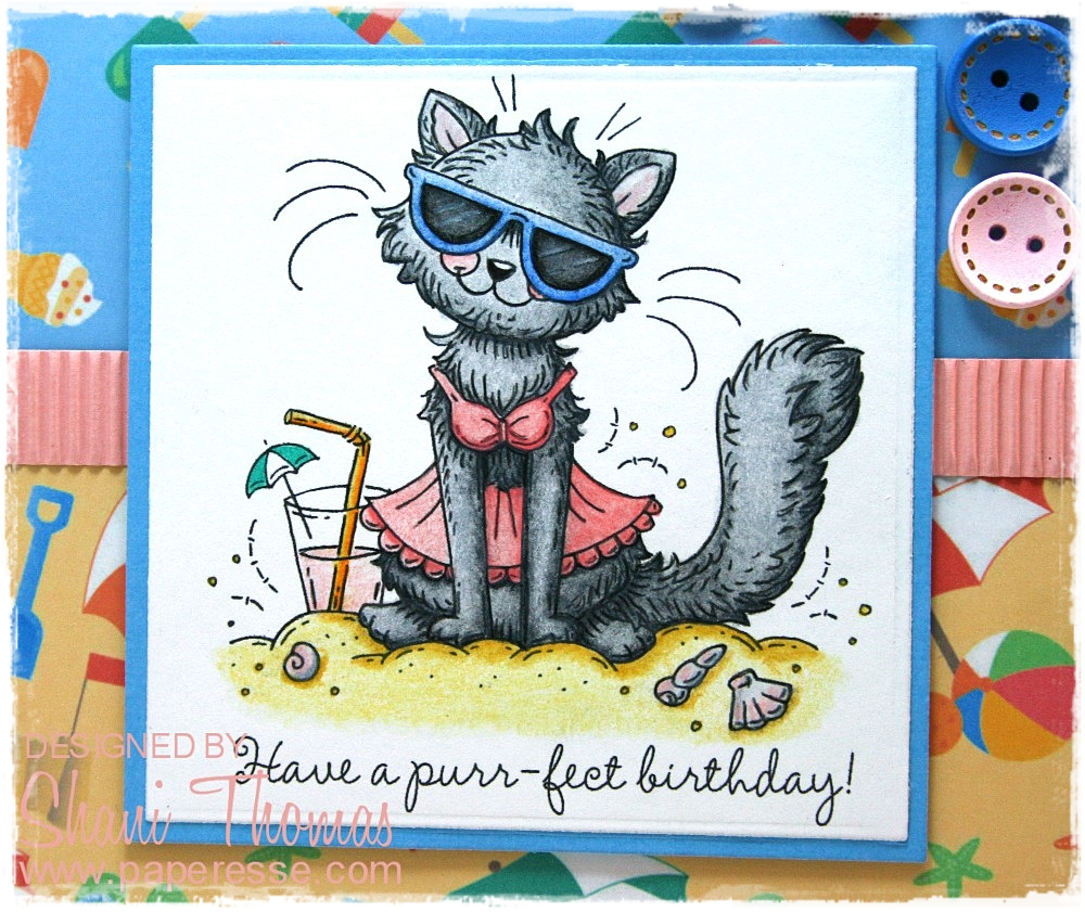 Shes No Longer Designing Which Is A Shame As She Had Some Very Cute Cat Themed Digital Stamps Like This Butts About It Card