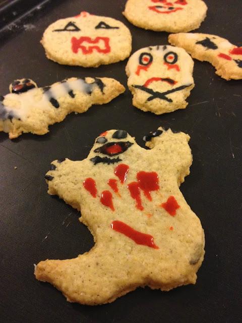 Sweet kwisine, biscuits, cookies, Halloween, sablés, vanille,fantômes