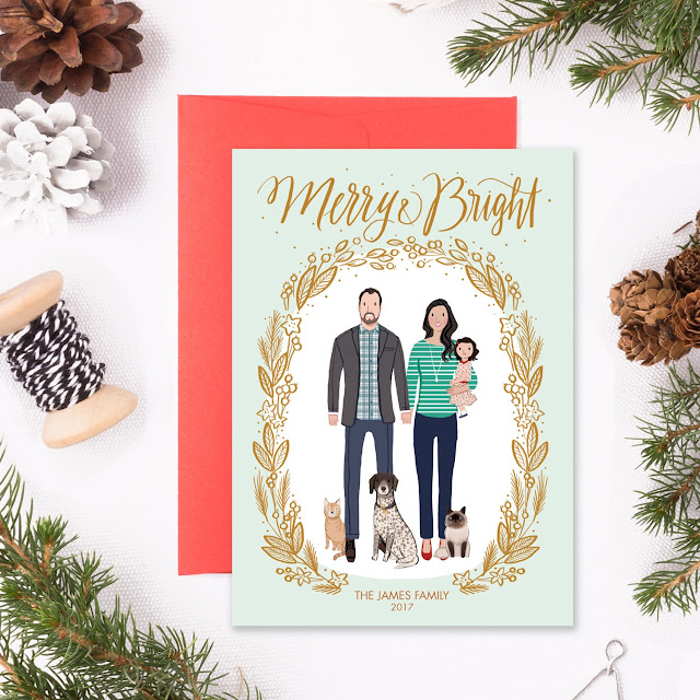 family christmas card personalized