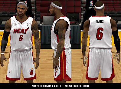 NBA 2K13 Tighter/Slimmer Jerseys Mod