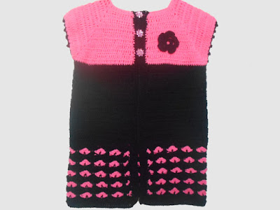 crochet-crosia-Crochet-Heart-Stitch-Cardigan-handwarmer-design-pattern-free-tutorial-picture-step by step-handmade-video