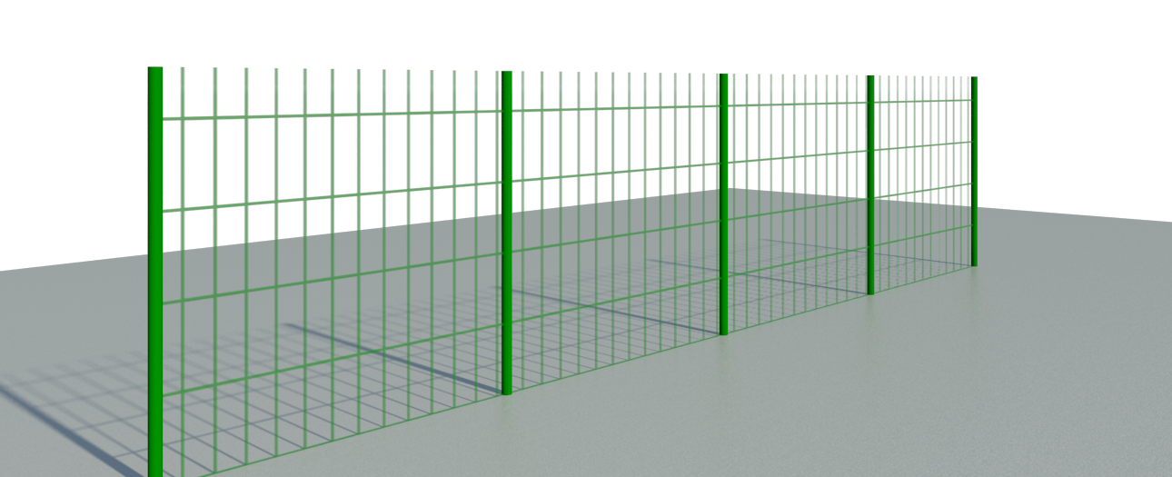 AutoCAD file: Create a wire fence with the tool
