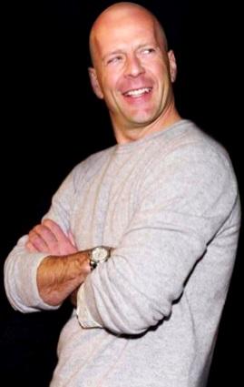 Foto de Bruce Willis sonriendo