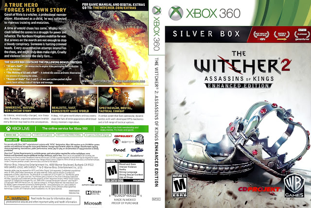 Capa The Witcher 2 Assassins Of Kings Enhanced Edition Xbox 360