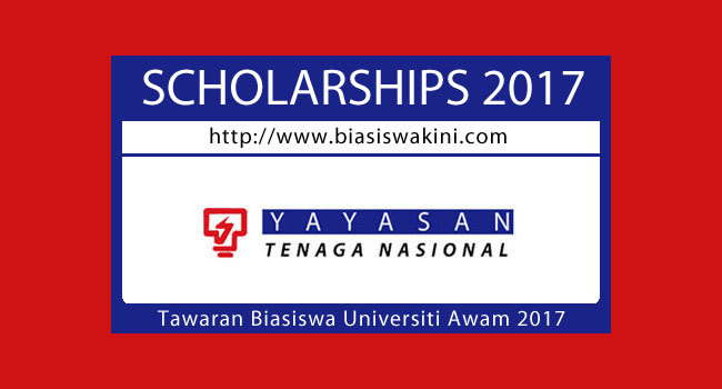 Yayasan Tenaga Nasional - Tawaran Biasiswa Universiti Awam 2017