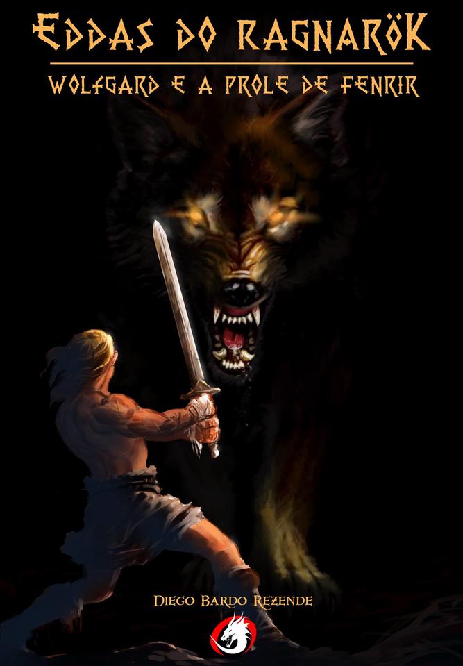 Livro de mitologia nordica com toques de rpg