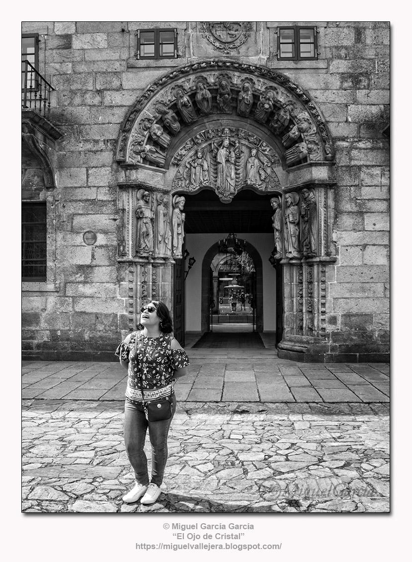 Praza do Obradoiro, Colexio de San Xerome, Santiago de Compostela (España)